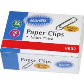 Oddy Paper Clips Nickel Plated (PC-50mm) - Pack of 50 Pcs
