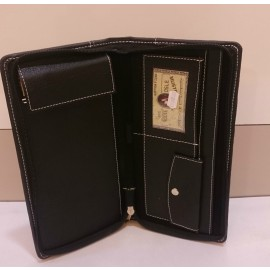Documents and Cheque Book Zipper Organizer (Leatherite) Code-1240