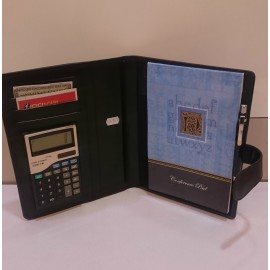 Conference Organizer with Calculator and Conference Pad (Leatherite)- Code 1230