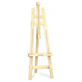 Isomars Wooden Easel - 3 Legs 5' Ft. Height - 2.75'' Broad Legs - Artist Plus