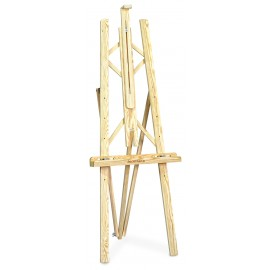 Isomars Wooden Easel - 3 Legs 5' Ft. Height - Folded