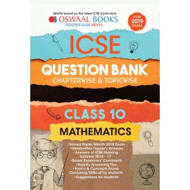 Oswaal ICSE  Question Bank Chapterwise Mathematics for Class 10 (2019)