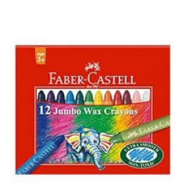 Faber-Castell Jumbo Wax Crayons 12 Assorted Shades
