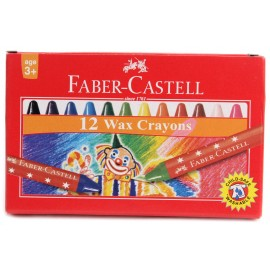 Faber-Castell Regular Wax Crayons 12 Assorted Shades