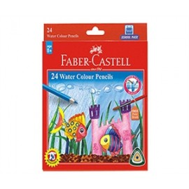 Faber-Castell Water Color Pencil (12 Shades) Half Length