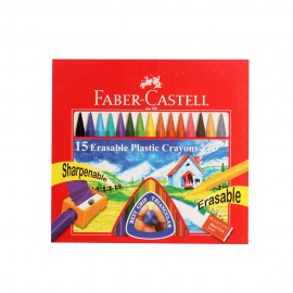 Faber-Castell Erasable Crayons 15 Assorted Shades 70 mm