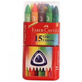 Faber-Castell Triangular Wax Crayons (15 Shades)