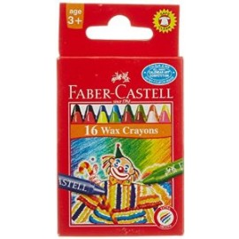 Faber-Castell Regular Wax Crayons 16 Assorted Shades