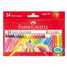 Faber-Castell Regular Wax Crayons 24 Assorted Shades