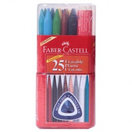 Faber-Castell Erasable Crayons Gift Pack 25 Assorted Shades 110mm