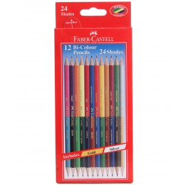 Faber-Castell Bi-Color Pencils (12 Shades)