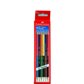 Faber-Castell Bi-Color Pencils (6 Shades)