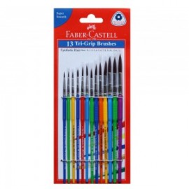Faber-Castell Tri-Grip Synthetic Round Brushes Pack of 13