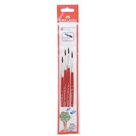 Faber-Castell Paint Brushes Round Assorted Pack of 4