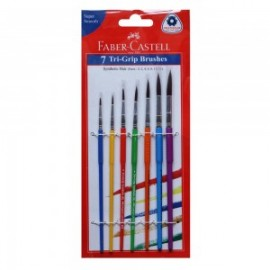 Faber-Castell Tri-Grip Synthetic Round Brushes Pack of 7