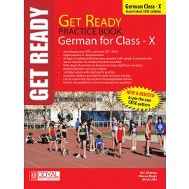 Get Ready Practice Book of German for Class 10 by Goyal Saab