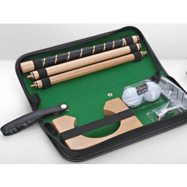 Portable Leather Golf Set