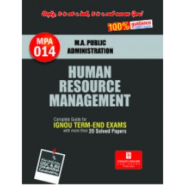 Straight Forward IGNOU M.A. Public Administration - Human Resource Management 1st Year (MPA-014)