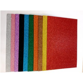 Glitter Sheets A4 Assorted Pack of 10 Sheets