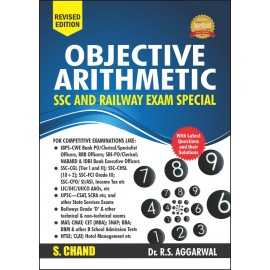 S Chand Objective Arithmetic (SSC and Railway Exam Special) by RS Aggarwal