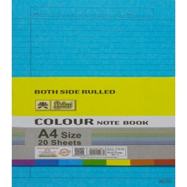 Lotus Pastle Sheets A4 Size Assorted Colors (Project Paper Sheets)-Both Side Ruled (Pack of 20 Sheets)