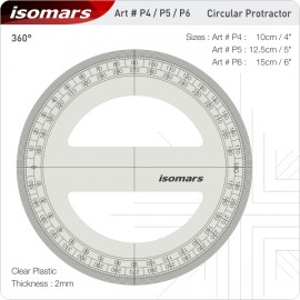 Isomars Protractors 360 Degree Full Circular