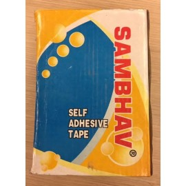 "Sambhav Tape Clear 1"" (Length 60 Meters) Pack of 6 Pcs."