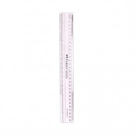 Faber-Castell Transparent Regular Scale-30cms