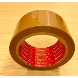 "Sambhav Tape Brown 2"" (Length 60 Meters) Single Piece"