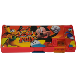 Mickey Lets Play Magnetic Pencil Box