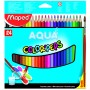Maped Colour Pencils Aqua Water colour Penclis 24 Shades (836013)
